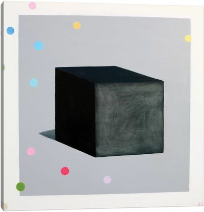 Black Cube And Muses Canvas Art Print