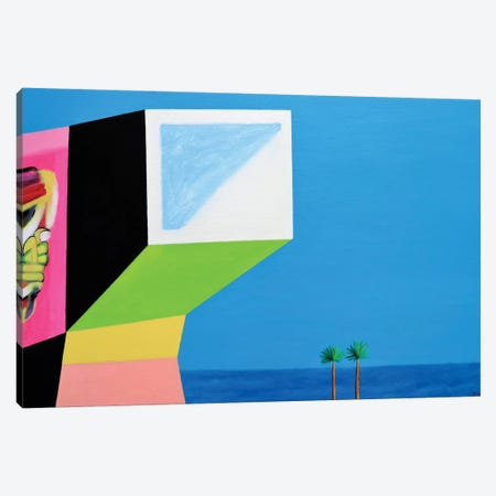 House With Graffiti Canvas Print #IBA70} by Ieva Baklane Canvas Art Print