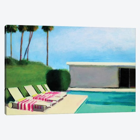 By The Swimming Pool Canvas Print #IBA74} by Ieva Baklane Canvas Art