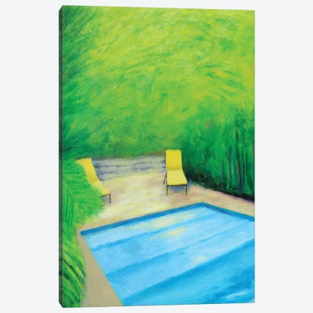 Two Yellow Chairs Canvas Print #IBA77} by Ieva Baklane Canvas Art