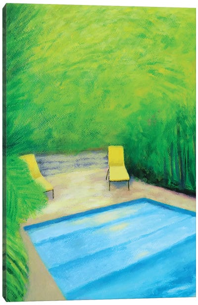 Two Yellow Chairs Canvas Art Print