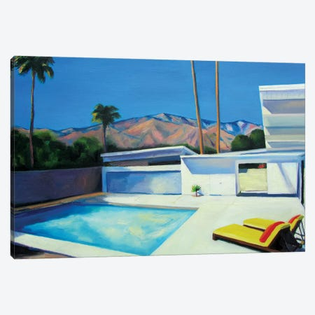 By The Pool Canvas Print #IBA7} by Ieva Baklane Canvas Print