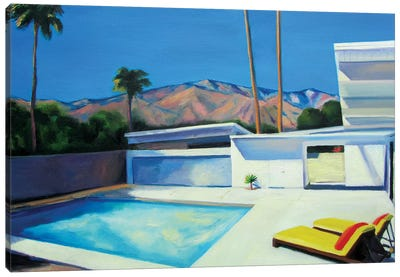 By The Pool Canvas Art Print
