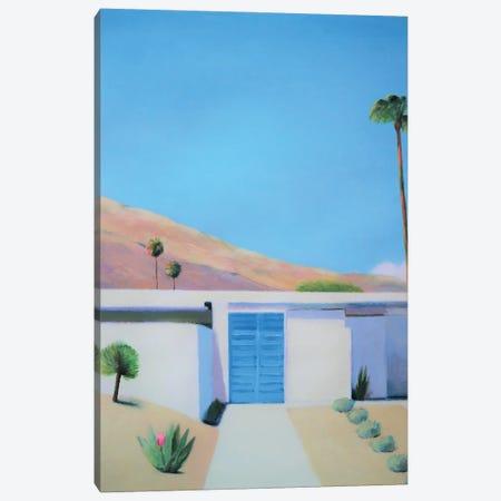 Blue Door, Acrylic/Canvas 2021. Canvas Print #IBA84} by Ieva Baklane Art Print