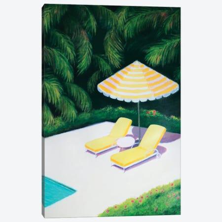By The Pool Canvas Print #IBA86} by Ieva Baklane Art Print