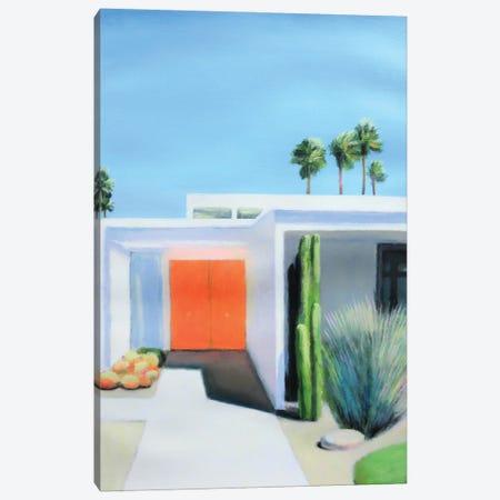 Orange Door Canvas Print #IBA88} by Ieva Baklane Canvas Art