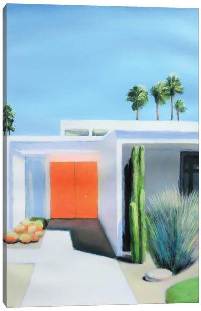 Orange Door Canvas Art Print
