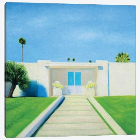 Light Blue Door Canvas Print #IBA94} by Ieva Baklane Canvas Art