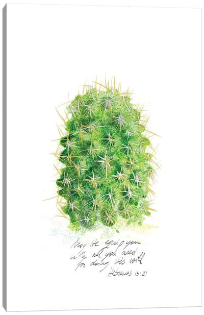 Cactus Verse I Canvas Art Print