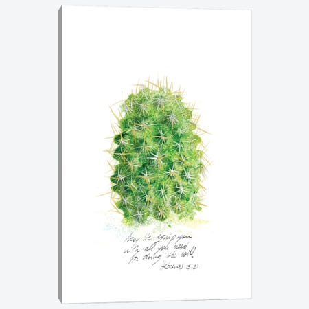 Cactus Verse I Canvas Print #IBL15} by Ingrid Blixt Canvas Art Print