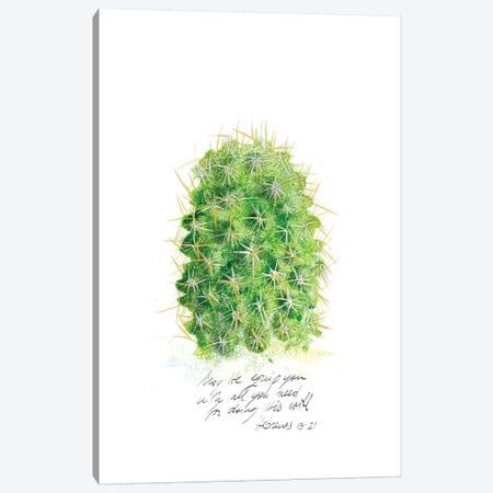 Cactus Verse I Canvas Print #IBL15} by Ingrid Blixt Canvas Art Print