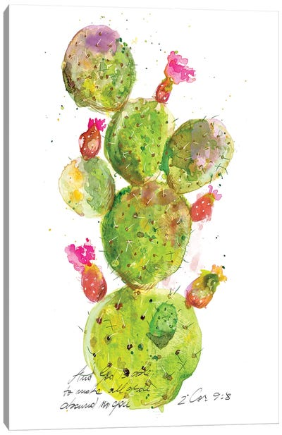 Cactus Verse III Canvas Art Print