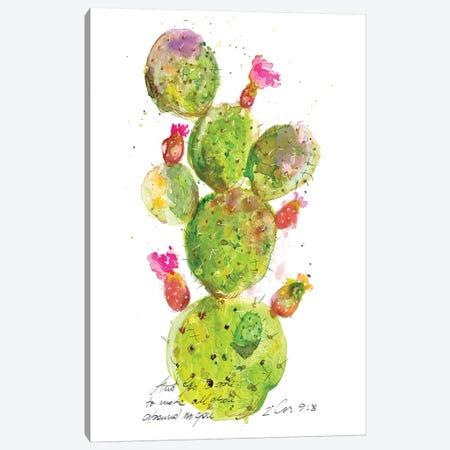Cactus Verse III Canvas Print #IBL17} by Ingrid Blixt Canvas Print