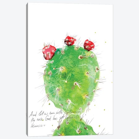 Cactus Verse IV Canvas Print #IBL18} by Ingrid Blixt Canvas Art