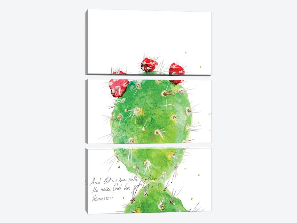 Cactus Verse IV by Ingrid Blixt 3-piece Canvas Wall Art