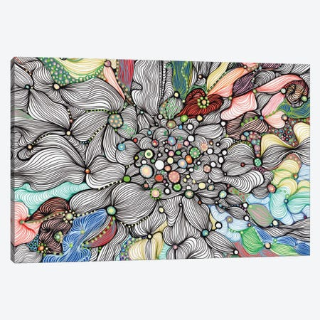 Sea Bottom Canvas Print #IBZ10} by Noemi Ibarz Canvas Art