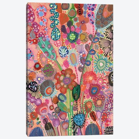 Flowers Canvas Print #IBZ12} by Noemi Ibarz Canvas Art