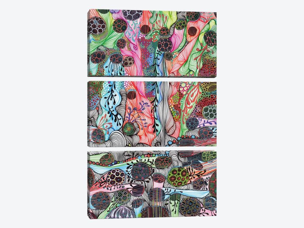 Fluid by Noemi Ibarz 3-piece Canvas Art