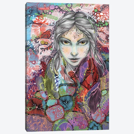 GIRL Canvas Print #IBZ14} by Noemi Ibarz Art Print