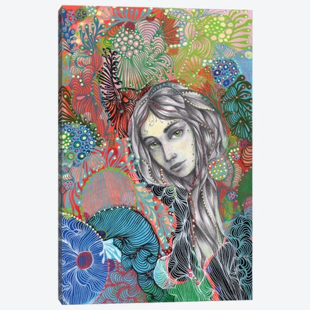 Girl III Canvas Print #IBZ19} by Noemi Ibarz Canvas Wall Art