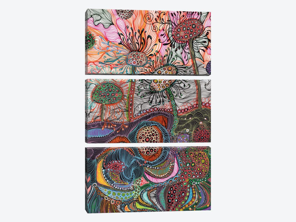 Earth by Noemi Ibarz 3-piece Canvas Art