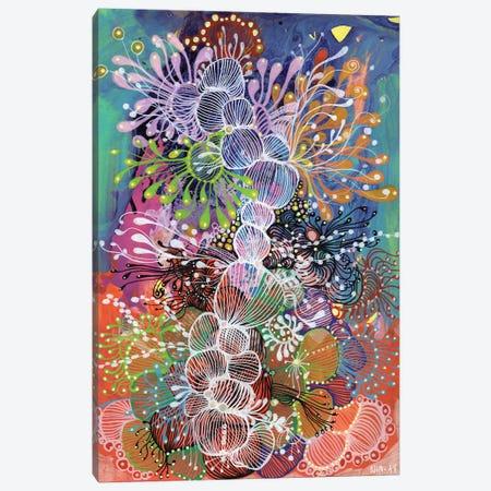 Seaplant Canvas Print #IBZ24} by Noemi Ibarz Canvas Wall Art