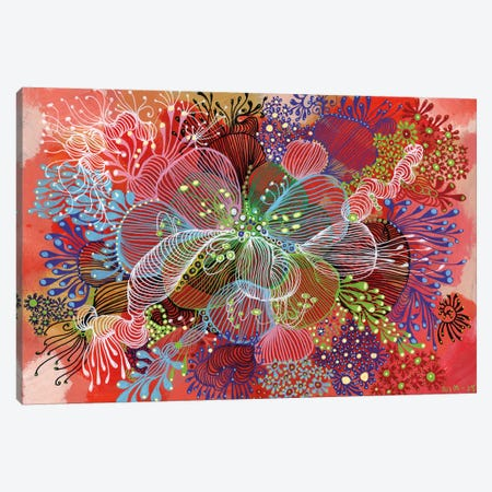 Flower Canvas Print #IBZ2} by Noemi Ibarz Canvas Wall Art
