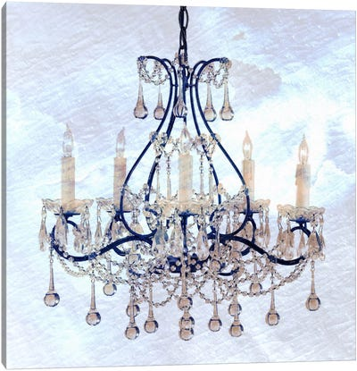 Frosted Chandelier Canvas Art Print