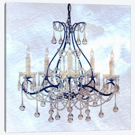 Frosted Chandelier Canvas Print #ICA100} by Unknown Artist Canvas Print