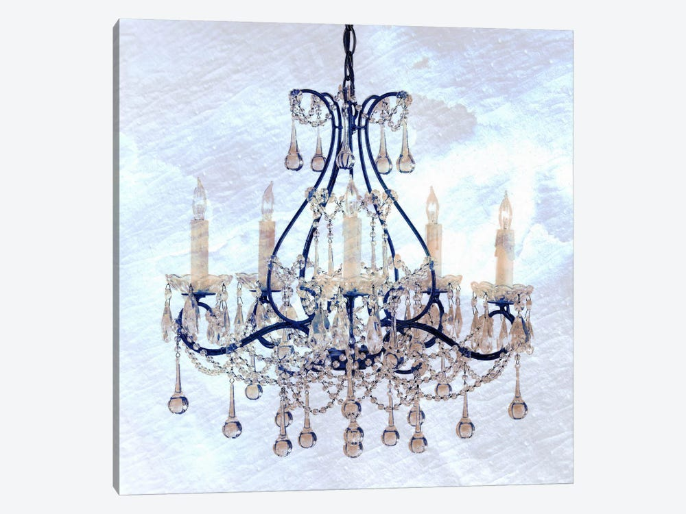 Frosted Chandelier by Unknown Artist 1-piece Canvas Print