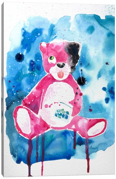Druggy Bear Canvas Art Print