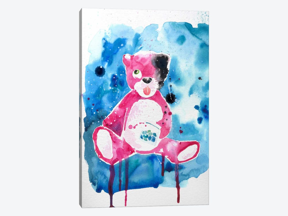 Druggy Bear by 5by5collective 1-piece Art Print