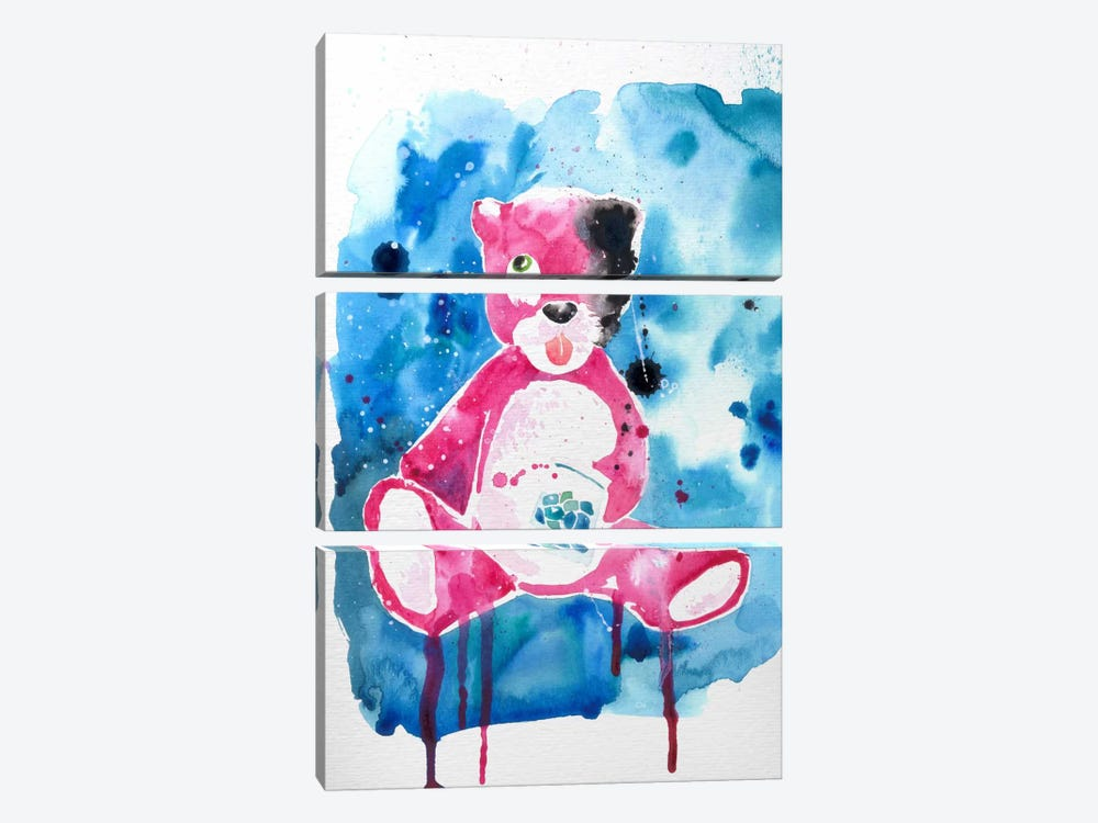 Druggy Bear by 5by5collective 3-piece Art Print
