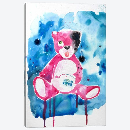 Druggy Bear Canvas Print #ICA1013} by 5by5collective Canvas Art