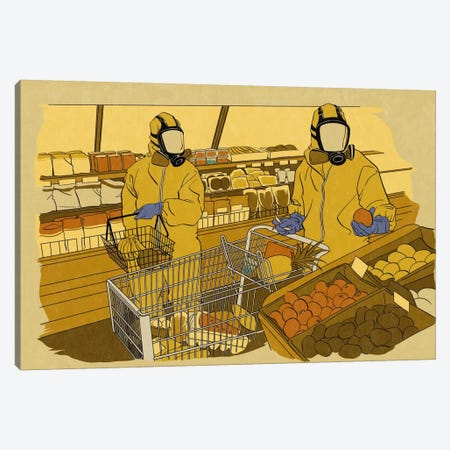 Grocery Shopping Canvas Print #ICA1014} by 5by5collective Art Print