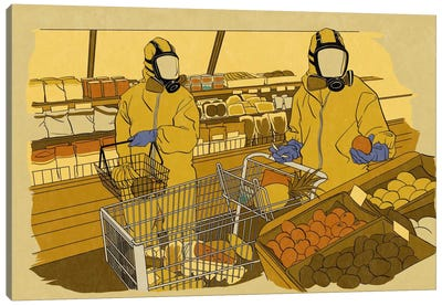 Grocery Shopping Canvas Art Print