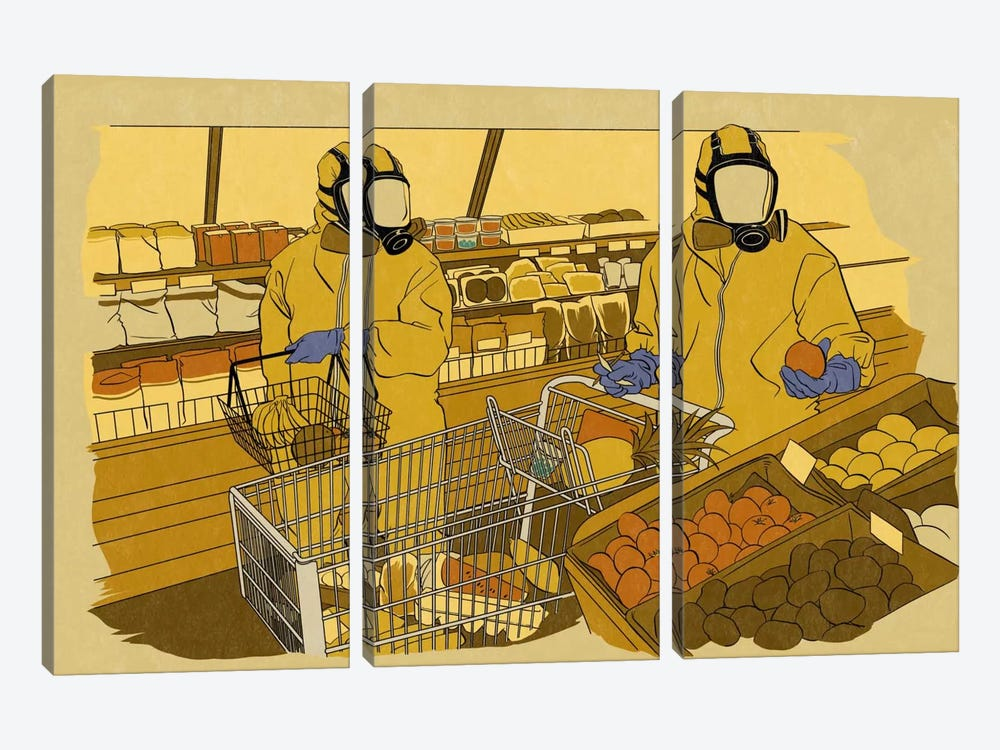 Grocery Shopping by 5by5collective 3-piece Canvas Art