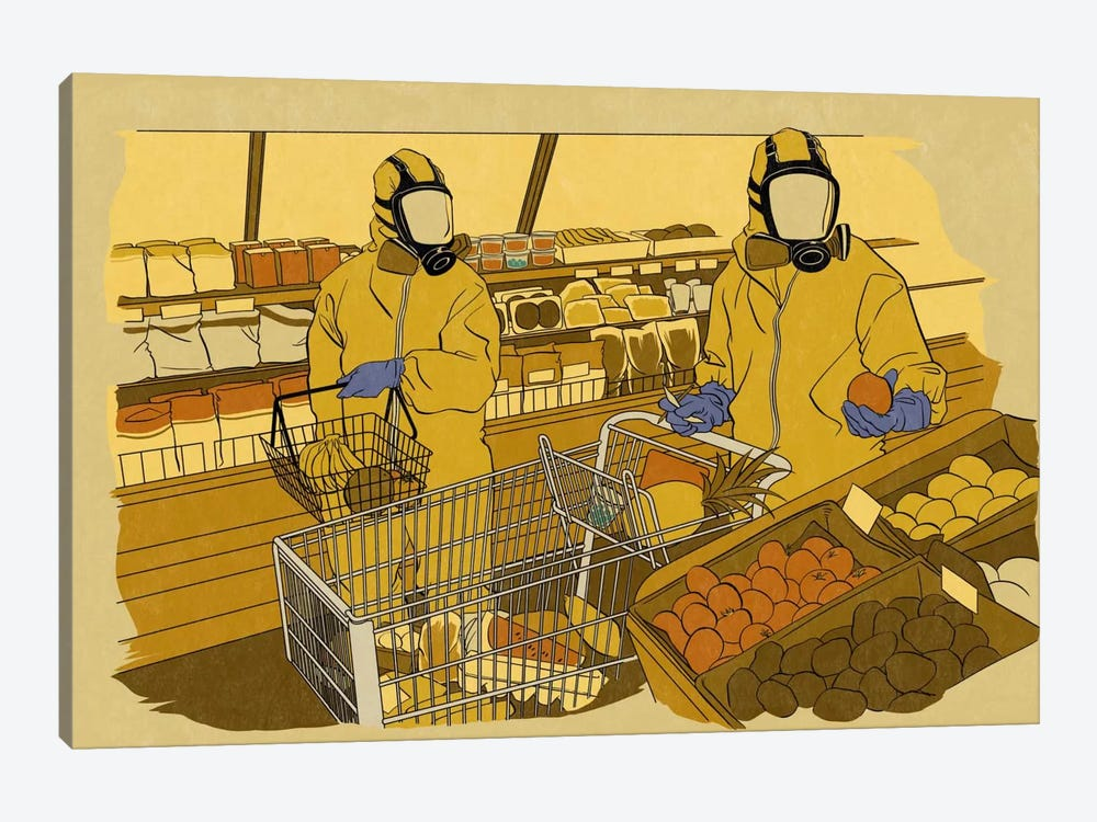 Grocery Shopping by 5by5collective 1-piece Canvas Art