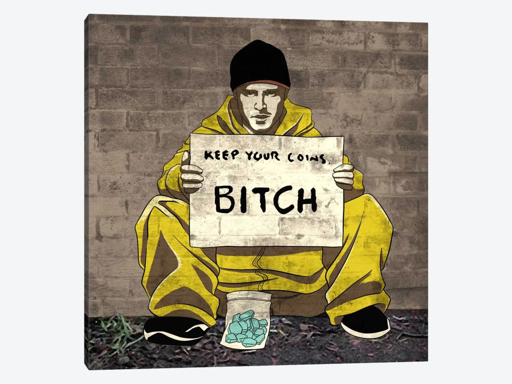 Keep Your Coins 1-piece Canvas Print