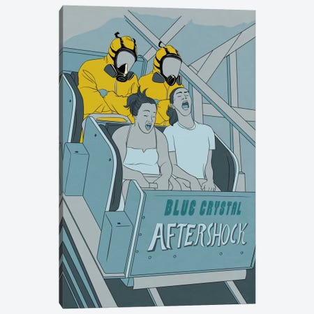 Aftershock Roller Coaster Canvas Print #ICA1017} by 5by5collective Canvas Art Print