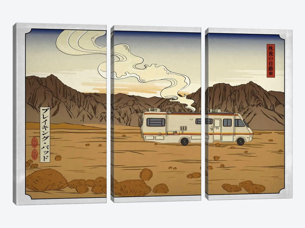 Road Trippin' by 5by5collective 3-piece Canvas Art