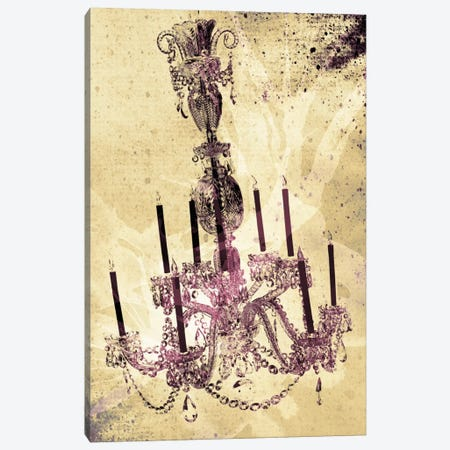 Dark Chandelier Canvas Print #ICA101} by iCanvas Canvas Art Print