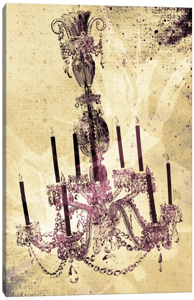 Dark Chandelier Canvas Art Print