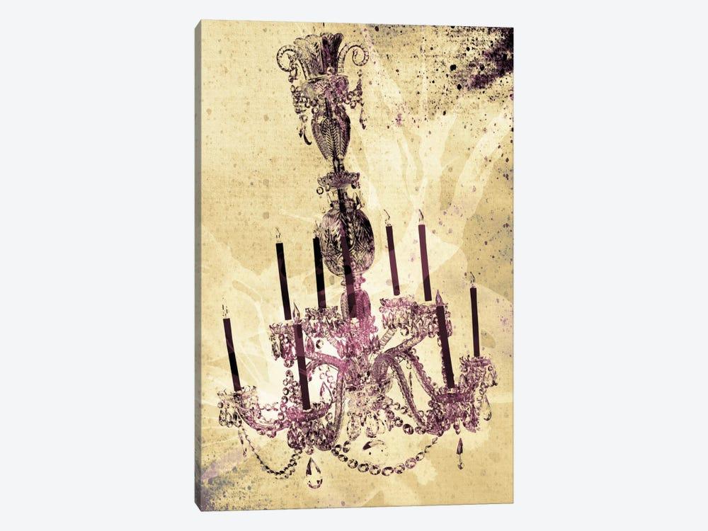 Dark Chandelier by Unknown Artist 1-piece Canvas Artwork