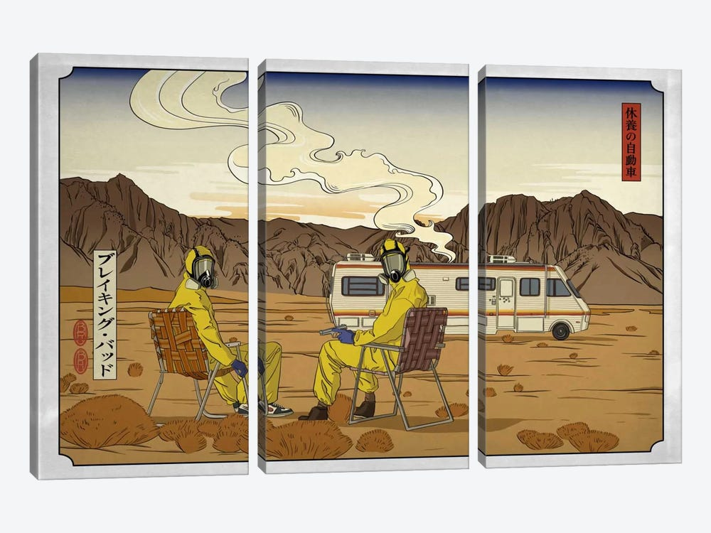 Road Trippin' 2 by 5by5collective 3-piece Canvas Art Print