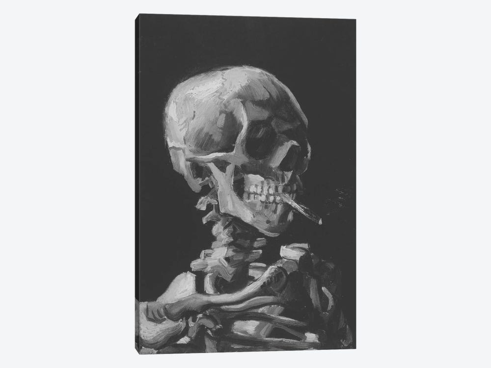 Sketch of Skull With Cigarette by 5by5collective 1-piece Art Print
