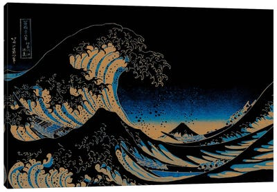 Great Wave at Night Canvas Print #ICA1027