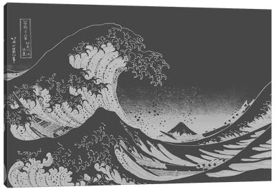 Sketch of Great Wave Canvas Print #ICA1028