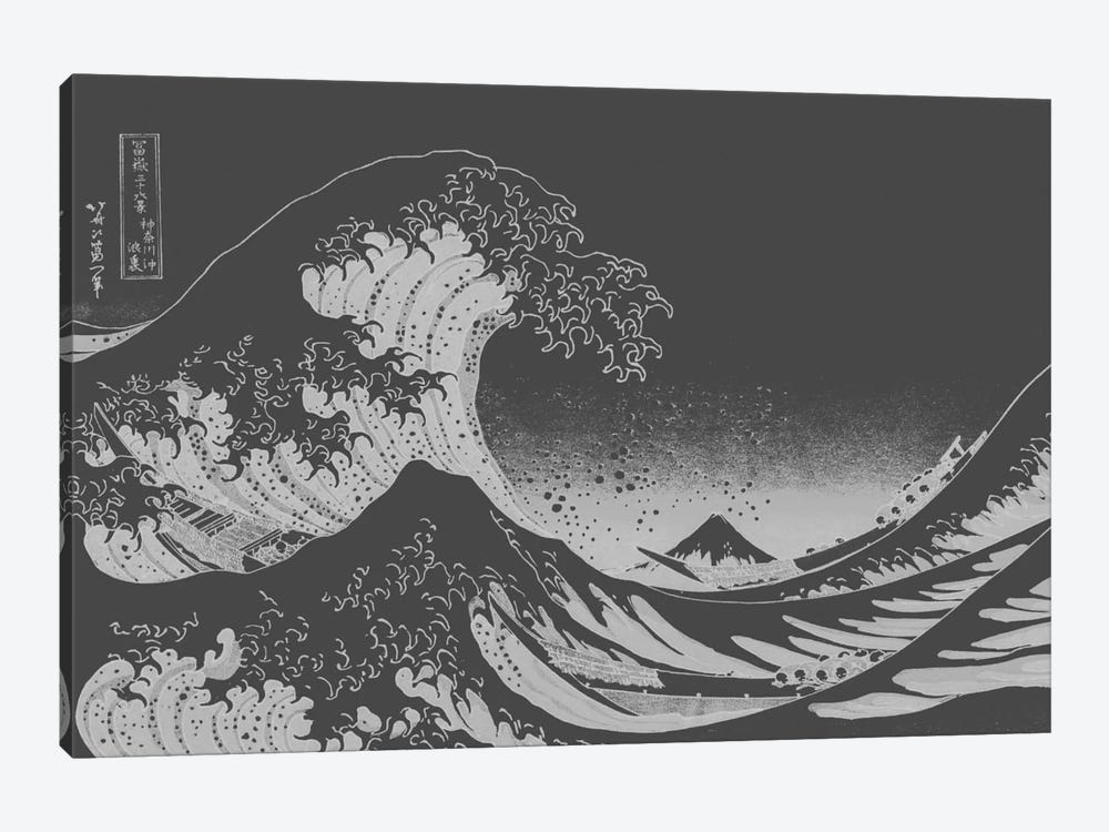 Sketch of Great Wave by 5by5collective 1-piece Canvas Print