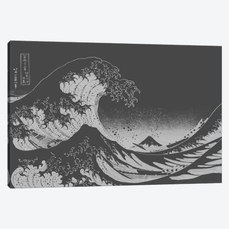 Sketch of Great Wave Canvas Print #ICA1028} by 5by5collective Canvas Art Print